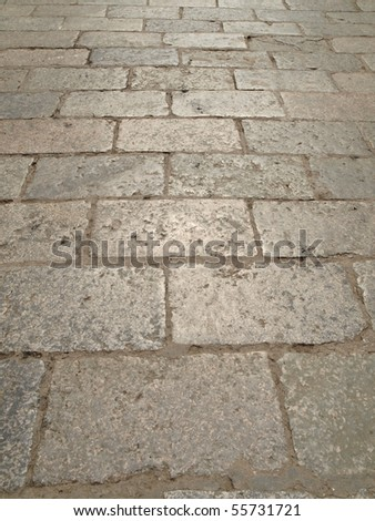 Grey vintage square stone pavement from China
