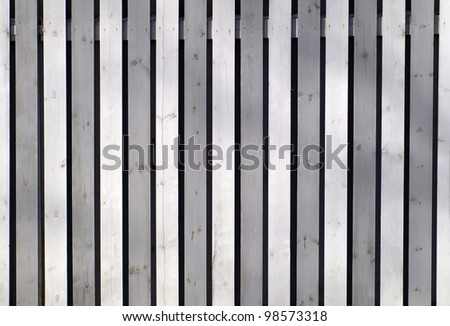 Grey wooden fence - stock photo