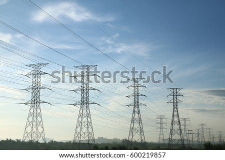 Grid electricity transmission towers #600219857