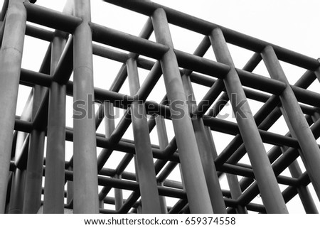 grid shaped steel structure; a partial structure #659374558