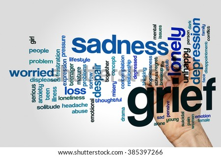 grief word cloud concept with...