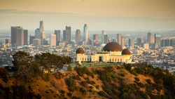 Griffith Observatory with Downtown Los Angeles Skyline