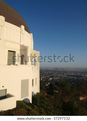 Griffith Park Observatory overlooking Los Angeles.