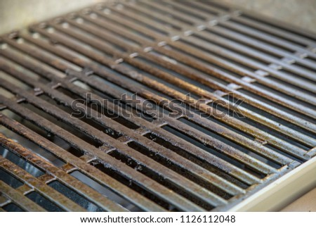 Grill grate close up clean dirty barbecue grillout grilling hamburger hot dog summer cookout