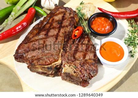 grilled beef steak #1289640349