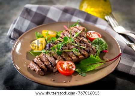 Grilled beef steak #767016013