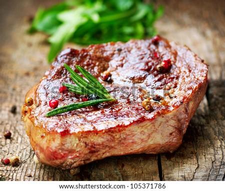 Grilled Beef Steak Meat