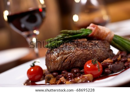 grilled beef with tomato #68695228