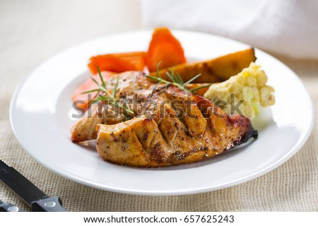 grilled chicken breast with vegetable for meal Сток-фото ©
