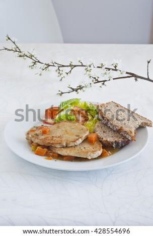Grilled fillet Zdjęcia stock ©