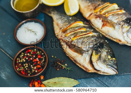 Grilled fish #580964710