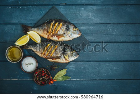 Grilled fish #580964716