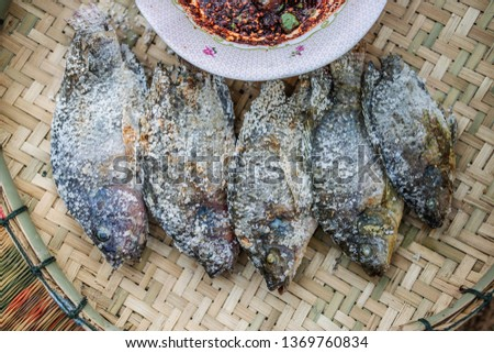 Grilled Fish,Burnt fish menu #1369760834