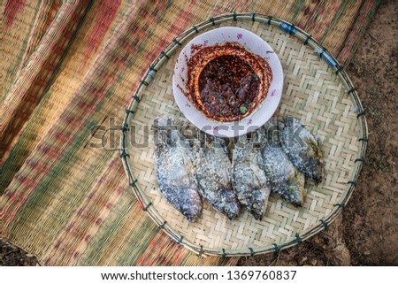 Grilled Fish,Burnt fish menu #1369760837