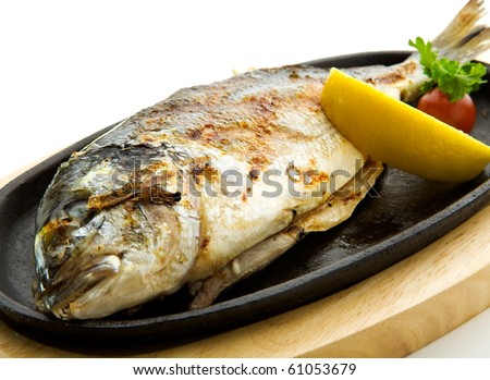 Grilled Foods - Grilled Fish with Lemon and Cherry Tomato