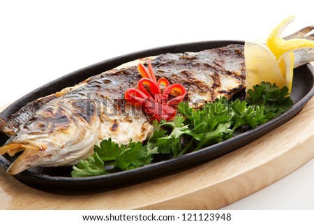 Grilled Foods - Grilled Fish with Lemon and Parsley