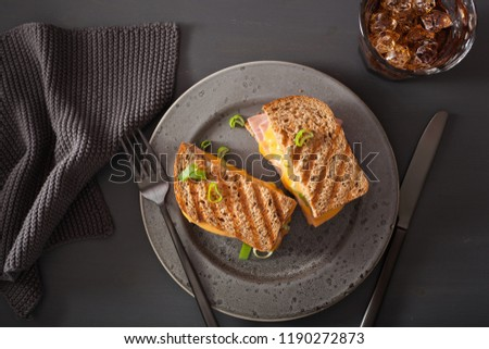 grilled ham and cheese sandwich - Shutterstock ID 1190272873