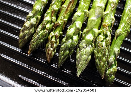 grilled Japanese asparagus for cooking image