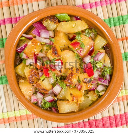 Grilled Pineapple Salsa - Mexican style salad with grilled pineapple ...