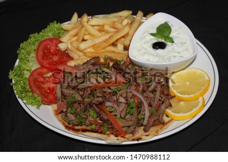 Grilled Shawarma Platter with yougurt