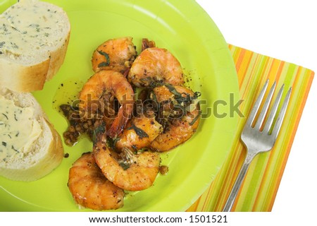 grilled shrimp picnic