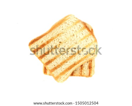 grilled toasts on a white background #1505012504