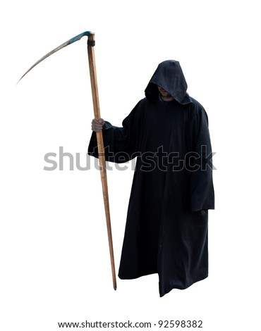 Grim Reaper isolated on the white