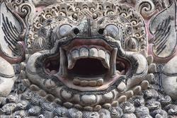 Grimace of a Balinese sculpture