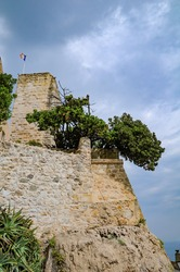 Grimaldi castle in Antibes, French Riviera at summer day, France