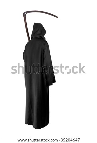 Grimm Reaper on white background