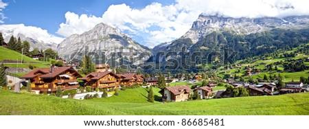 Grindelwald Village Panorama, Switzerland