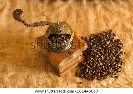 Grinder and coffee/ Grinder and coffee
