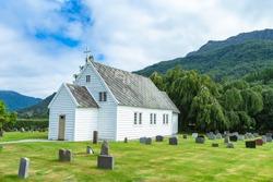 Grindheim Church. Parish church in Etne municipality in Hordaland county, Norway.