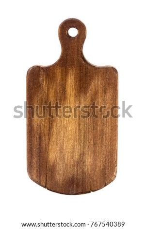 Grinding cutting board on a white background. Old, vintage. isolated object Stock photo ©