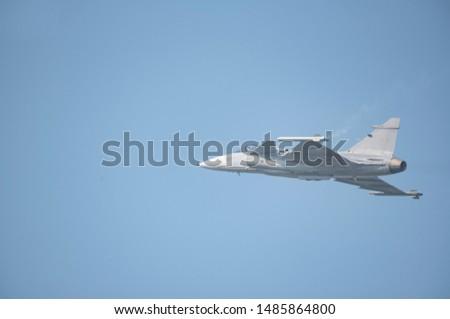 Gripen fighter aircraft - airshow in thailand