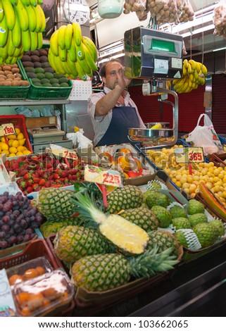 Grocery stall in the market, - stock photo