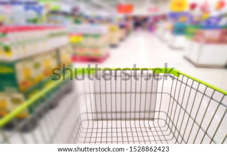 Grocery supermarket Sells commonly used blurred images