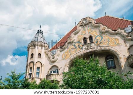 Grof Palota Art Nouveau Architecture in Szeged, Hungary Stock fotó ©