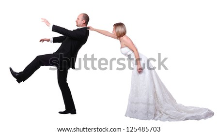 gromm try to escape from wedding