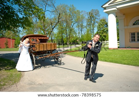 groom and bride. funny