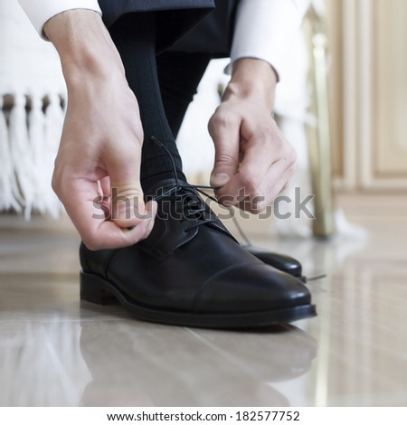 groom black shoes #182577752