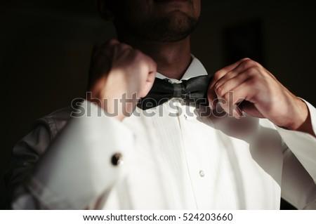 Groom getting ready for wedding ceremony. Сток-фото ©