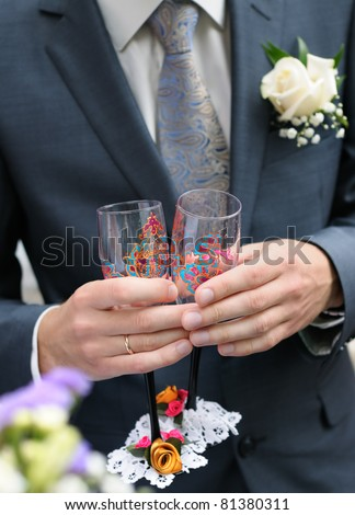 wedding champagne flutes clipart