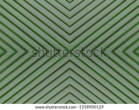 grooved green wooden board, abstract concentric pattern lines