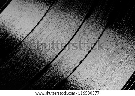 grooves of a vinyl 33 rpm LP stereo record