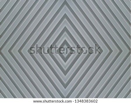 groovy aluminum panel board, abstract rhombus pattern