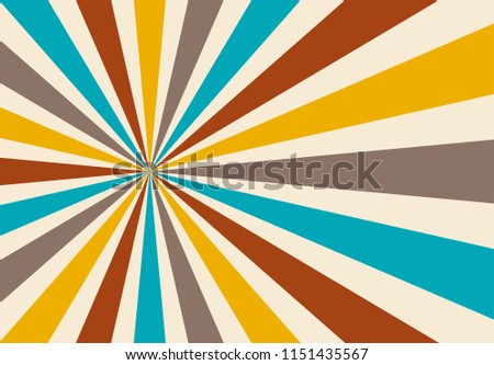 Groovy retro sunburst background pattern in blue red gray and beige or off white, classic vintage design in bold modern color palette