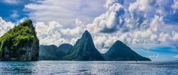 Gros Piton, Saint Lucia panoramic shot