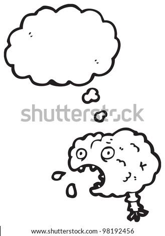 gross brain cartoon