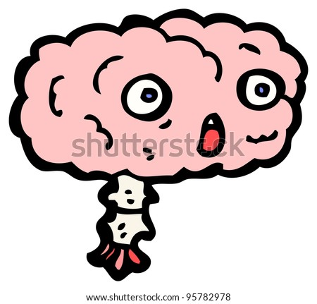 gross cartoon brain (raster version)